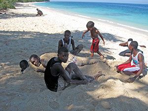 Haitians-at-beach
