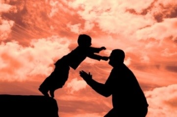 Child Jumping into Dad's Arms