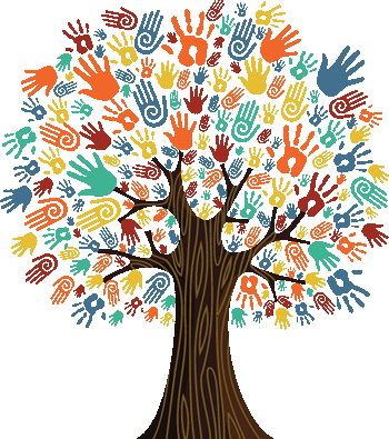 Tree Made of Multicultural hands
