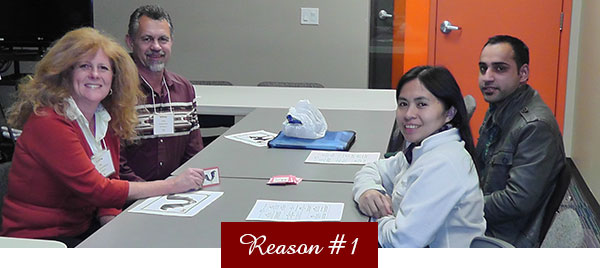 Reasons to Give - Staff at Table
