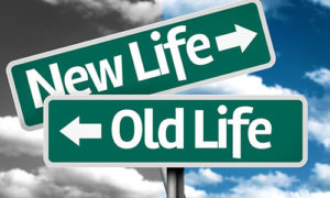 New Life Old Life Road Signs