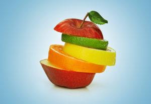 Apple with fruit slices inbetween
