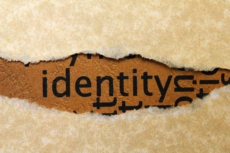 Identity Text in Paper rip