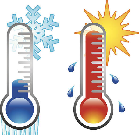 One cold and one hot thermometer