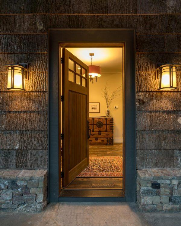 House with front door open