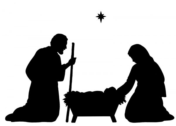 Jesus and Mary at Manger