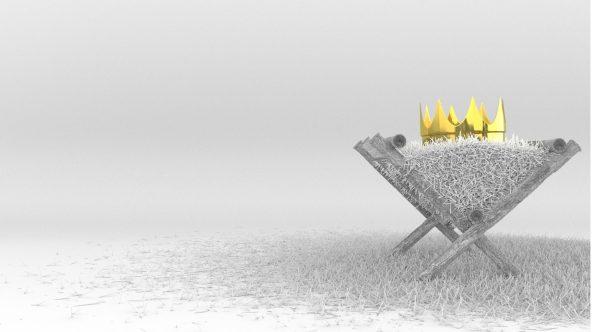 Jesus Crown on the Manger