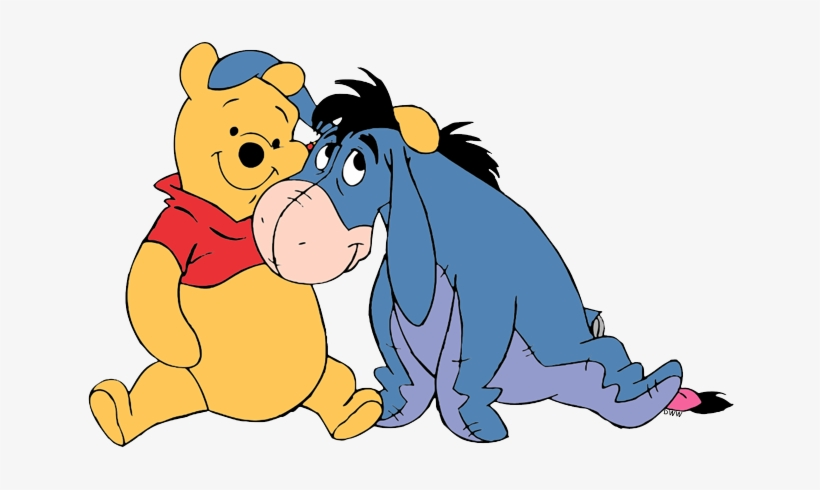 Winnie the Pooh hugging More
